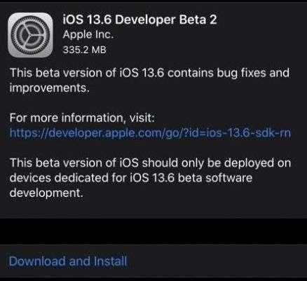 iOS13.6Beta2下载 苹果iOS13.6开发者预览Beta2描述文件下载