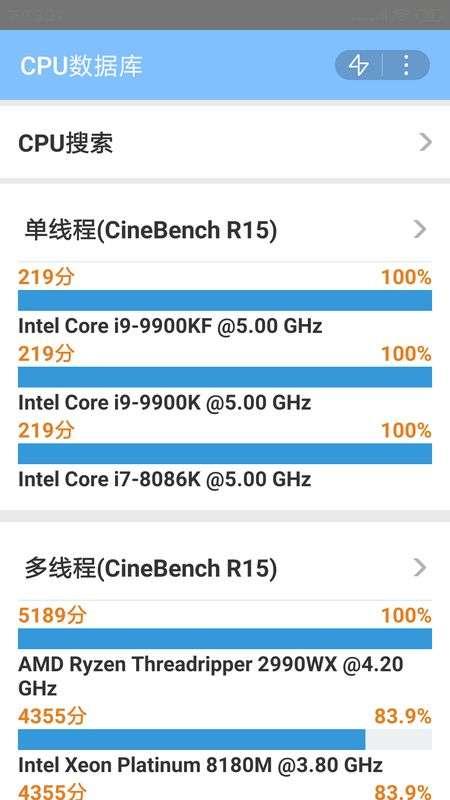 CPU数据库app